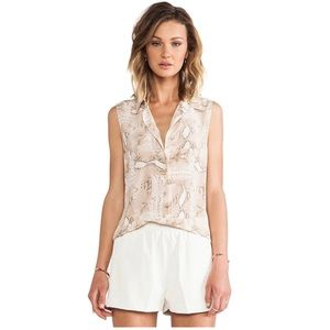 EQUIPMENT 100% silk colleen sleeveless blouse XS